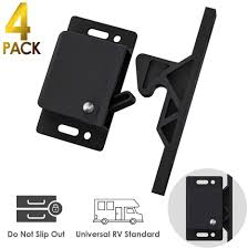 Rv Designer Drawer Slides Cabinet Door Latch 4 Pack Rv Drawer Latches 8 Lbs Pull Force Cabinet Latch Holder For Home Rv Cabinet Doors With Mounting Screws Perfect For Rv