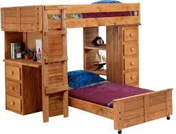 bunk desk bed combo