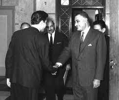 جمال عبد الناصر يستقبل إبراهيم ماخوس - حزيران 1966 (5) | التاريخ السوري  المعاصر