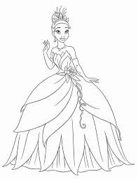 Princess Tiana Waving Hand In Princess And The Frog Coloring Pages