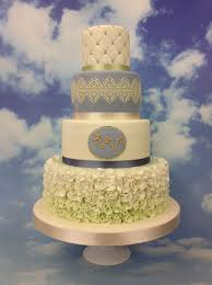 4 Tier Wedding Cake Designs A Stunning 4 Tier Wedding Cake In Wedgewood Blue Featuring