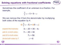 solving equations with fractional coefficients