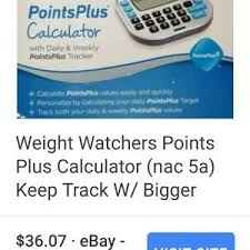 other weight watchers points plus calculator daily week