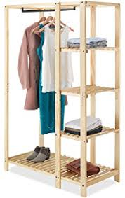 Heavy Duty Coat Rack With Shelf Amazon WOLTU Heavy Duty Garment Rack Wooden Garment Rack 100 73