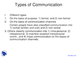 types of communication media studies lecture slides this is only a preview