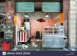 Kleinen Makellos Taco Shop Eröffnen Auf Bürgersteig