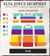 Mcnease Convention Center Seating Chart Venues Seating Charts San Angelo Symphony