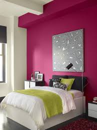 Interior Design Teen Bedroom Color Combination With Bright Pink White Color  Tapja Bright Sunset Coloured Bedroom