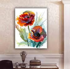 single unframed abstract art flower oil painting on canvas giclee wall art painting art picture for home decorr wall art picture abstract painting art