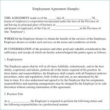 Dorable Simple Employee Contract Template Festooning - Resume Ideas ...