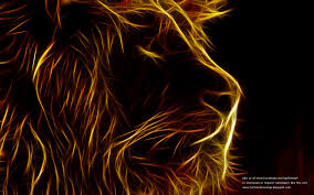 Glowing Lion Wallpaper free Download