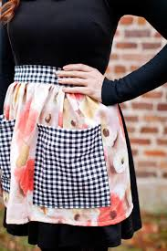 Make Your Own Apron Design Sew Your Own Half Apron A Beautiful Mess