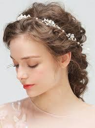 Coiffes De Mariage De Fleur Or Accessoires De Coiffure De