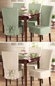 sure fit cotton dining chair slip covers these look nice and would be a nice cover to all that my kids have dropped spilled on my chairs