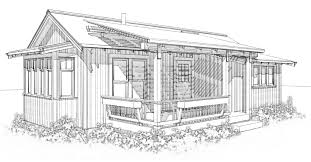 Ross Chapin Architects   GoodFit House Plans   Tiny House Designross chapin architects lizzie cottage drawing
