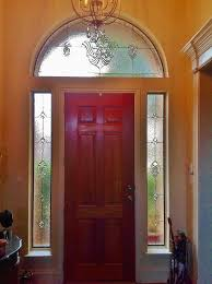 entryway stained glass with transom