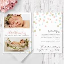 Printed Birth Announcement Personalised Photo Birth Announcement Cards Printed On Double Sided