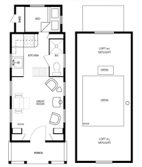 floor plan tiny house on wheels plans with no loft for lively bathroom