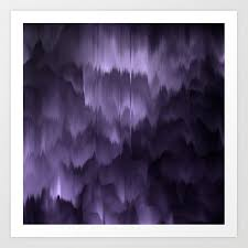 purple and black abstract art print