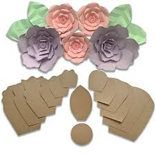 Paper Flower Kit Two Pack Rose Peony Paper Flower Template Kit Free Leaf Template Paper Flowers Decorations For Wall Make Unlimited Flowers Diy Do It