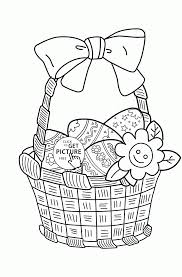 Easter Basket Coloring Page For Kids Coloring Pages Printables Free