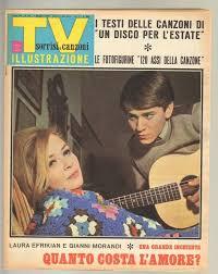 TV Sorrisi e Canzoni anno 1966 n. 18 - 1 Maggio Laura Efrikian e Gianni  Morandi