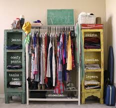 Simple Dressing Room With Creative Clothing Storage Ideas Diy Clothing  Storage Ideas