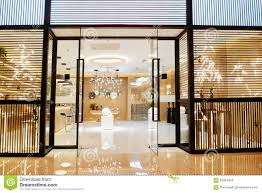 Show Window Lighting Luxury Home Lighting Shop In Shopping Mall Stock Photo