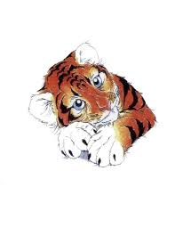 baby tiger drawing tattoo. Unique Baby Small Cute Colorful Baby Tiger Tattoo Design Inside Drawing A
