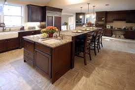 Kitchen Island Dining Table Kitchen Rectangle Carrera Marble Topped Kitchen Island Dining