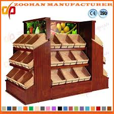 Wooden Fruit Display Stands Amazing China Supermarket Wooden Shelving Rack Vegetable And Fruit Display