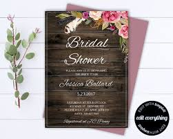 Bridal Shower Template Classy Floral Bridal Shower Invitation Template Floral Shower Invitations
