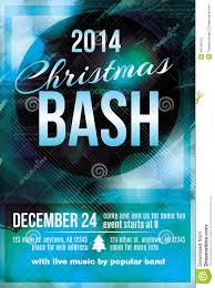 christmas bash party invitation flyer stock vector image  christmas bash party invitation flyer