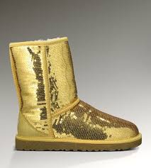 UGG Women Classic Short Sparkles 3161 Boots Gold