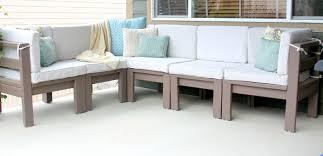 diy outdoor sectional sofa and diy outdoor sectional