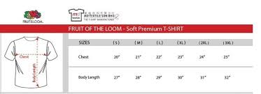 Fruit Of The Loom Boxers Size Chart 70 Symbolic Fruit Of The Loom Sizing Chart T Shirt