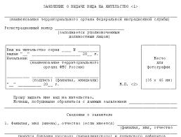 Заявление о выдаче вида на жительство образец  бланк заявления