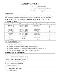 Interview Resume Format Resume For Interview Format Resume For Job