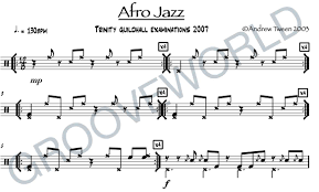 Afro Jazz Andrew Tween Drum Chart