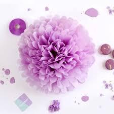 Tissue Paper Pom Poms Flower Balls Tissue Paper Pom Poms Flower Ball 2 Sizes Light Lavender