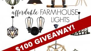inexpensive lighting fixtures. Lovely Discount Lighting Fixtures Of For Farmhouse Style And A Giveaway DIY Beautify Inexpensive M