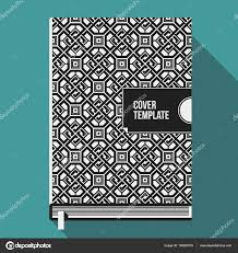 book cover design template with monochrome geometric pattern useful for books notebooks annual