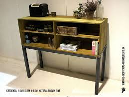 industrial furniture style. a vintage industrial credenza combining reclaimedstyle wood cabinet with steel frame furniture style