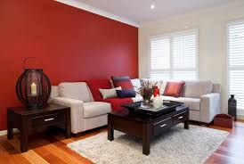 living room paint ideas with red colour image