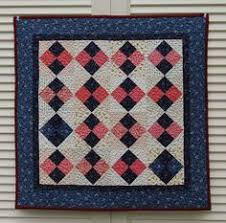 """Quilt for Sale, """"Reflections"""" is a wall quilt with a center ... & Quilt for Sale, """"At Momma's Knee"""" is a pink and blue wall quilt pieced with  Civil War reproduction fabrics/table topper/Doll Quilt Adamdwight.com"""