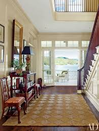 hall entrance furniture. boasting spectacular views the entrance hall of a lake placid new york home furniture o