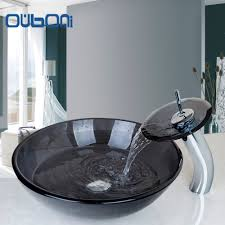 Glass Sink Bathroom Online Get Cheap Glass Sink Bathroom Aliexpresscom Alibaba Group