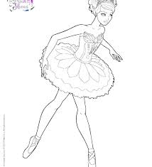 Ballerina Coloring Page Pages Arabesque Color Relian In