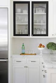 White Kitchen Cabinets With Black Doors