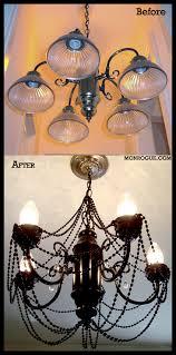 diy brass chandelier makeover before after